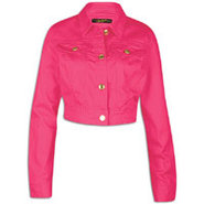 Crop Jacket - Womens - Shock Pink