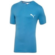 Iconic V-Neck S/S T-Shirt - Mens - Vallarta Blue