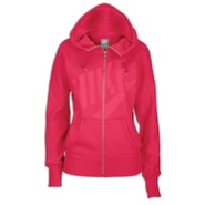 Light Weight Full Zip Hoodie - Womens - Fuschia