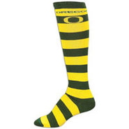Oregon Ducks For Bare Feet College Crew Sock - Wom