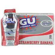 GU Energy Gel 8 Pack - Strawberry Banana
