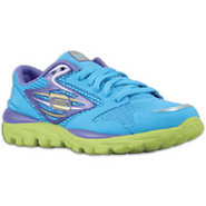 Go Run - Girls Preschool - Blue/Purple/Lime