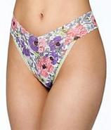 Poppy Print Signature Lace Original Rise Thong Pan
