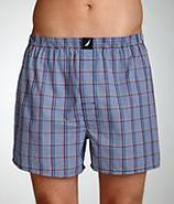 Sherman Plaid Woven Boxers Underwear