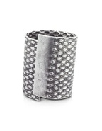 Large Waffled Tin Cuff Bracelet