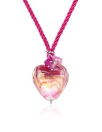 Mare - Pink Murano Glass Heart Pendant Necklace