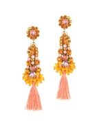 Orange Crystals Drop Earrings