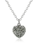 Fantasmania - Crystal Heart Pendant Necklace