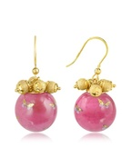 Alchimia - Round Gold Foil Drop Earrings