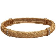 Jokara Golden Weave Stretch Bracelet