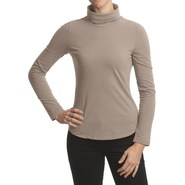 True Grit Sueded Jersey Turtleneck - Long Sleeve (
