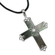 Silver Express Cross Pendant - Mother-of-Pearl She