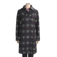Katherine Barclay Plaid Coat - Wool Blend (For Tal