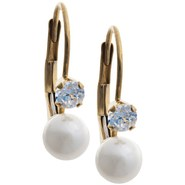 Stanley Creations Cubic Zirconia and Pearl Earring