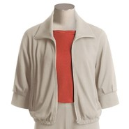 Joan Vass Bomber Jacket - Zip Front (For Women)