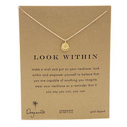 Look Within Reminder Necklace, 16 , Gold, 1 ea