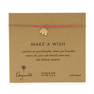 Make A Wish Bracelet Elephant, Gold/Fuchsia, 1 ea