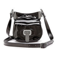 Brinks crossbody, Black Patent, 1 ea