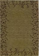 Cherry Blossom Border Green 6&#39; 7 x9&#39; 6  Area Rug (