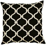 Black and Gold 18  Square Pillow (J8416)