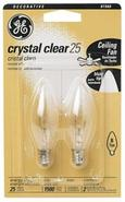 2-Pack 25 Watt Blunt Tip Light Bulbs (74456)