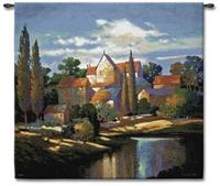 Autumn Chateau 53  Square Wall Tapestry (J8685)