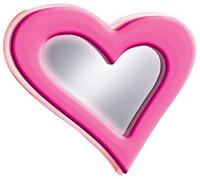 Neon Pink Heart 23 1/2  Wide Wall Mirror (00239)