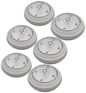 Set of 6 Battery Powered LED Puck Lights (N4788)