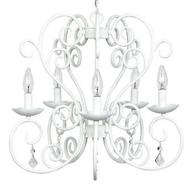 White Carriage 5-Light Chandelier (T2127)