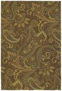 Rivers End Mocha 5' 9  Round Area Rug (P0432)