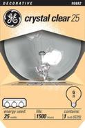Crystal Clear 25 Watt Globe Light Bulb (90882)