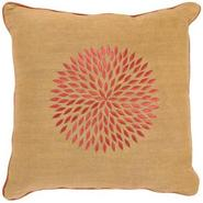 Gold and Rust Jute Blend Pillow (H6758)