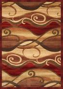 Waves Cinnabar Area Rug (65638)