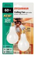 2-Pack 60 Watt Candelabra Ceiling Fan Light Bulbs