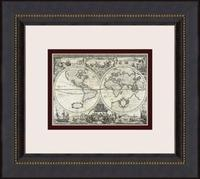 Parchment Maps-Mini B 16  High Wall Art (03099)