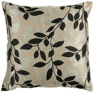 18  Square Gray and Black Throw Pillow (V3061)