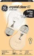 40 Watt 2-Pack Clear Ceiling Fan Bulbs (91852)