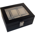 Aristo 6 Slot Watchbox Black - Royce Leather Dress