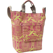 Medallion N/S Tote Hot Viola - Echo Fabric Handbag