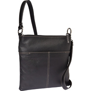 Double Entry X-Body Black - Tignanello Leather Han
