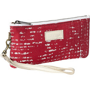 Cher Wristlet - Red Stripes