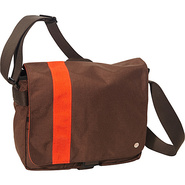 Astor Shoulder Bag (M) W Dark Brown/Orange - TOKEN