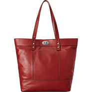 Hunter Tote CLARET RED - Fossil Leather Handbags