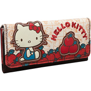 Hello Kitty Vintage Apples Wallet Tan with Colored