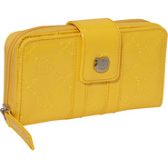Hello Kitty Yellow Embossed Wallet Bright Yellow -