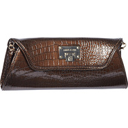Croco Luxe Clutch Dark Copper - Anne Klein Manmade