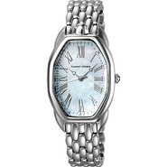 Turtle Ladies Watch White Dial; Silver Band - Tsum
