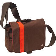 Astor Shoulder Bag (S) W Dark Brown/Orange - TOKEN