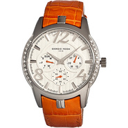 Lady Timer Women's Watch Orange/Silver - Giorgio F