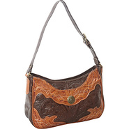 Renegade Collection Zip-Top Shoulder Bag Chocolate